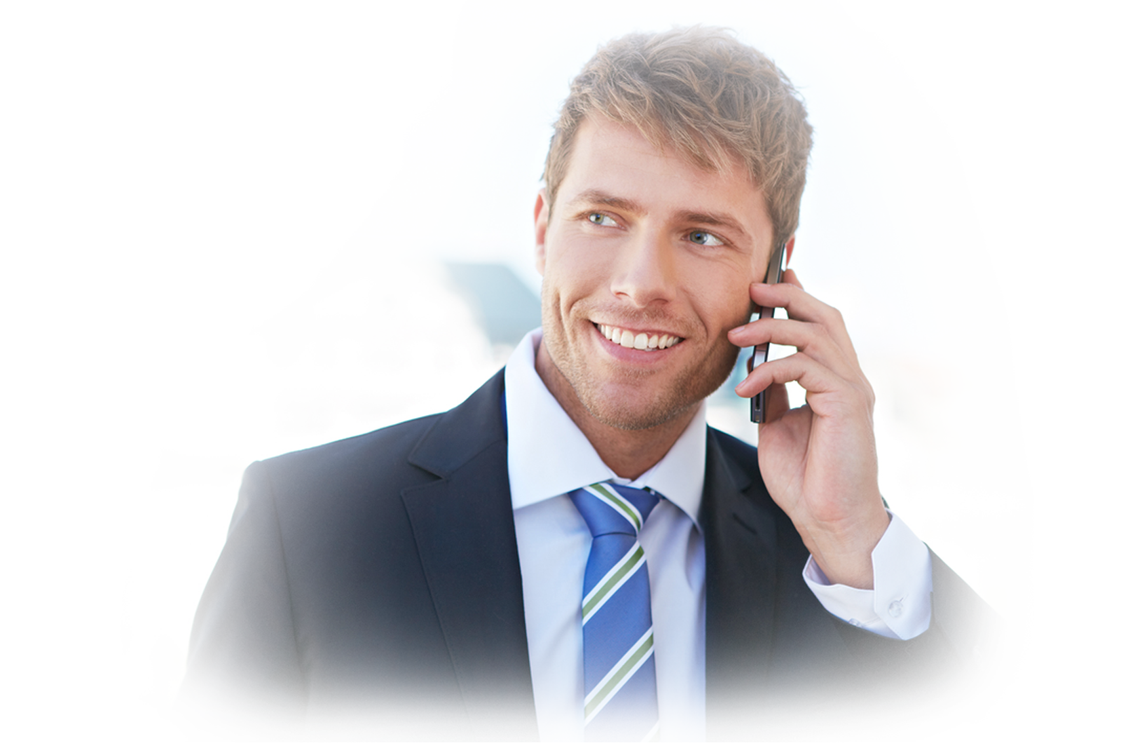Businessman on the phone png. Network management powernet america
