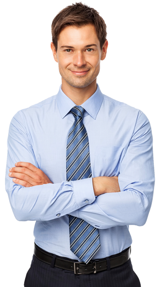 businessman with tablet png
