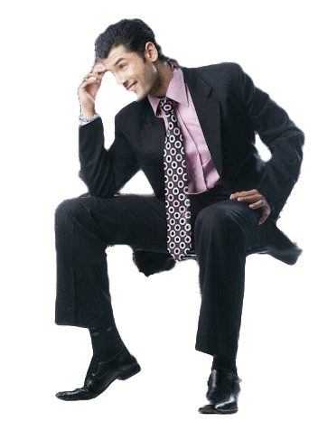 Businessman standing png. Sitting