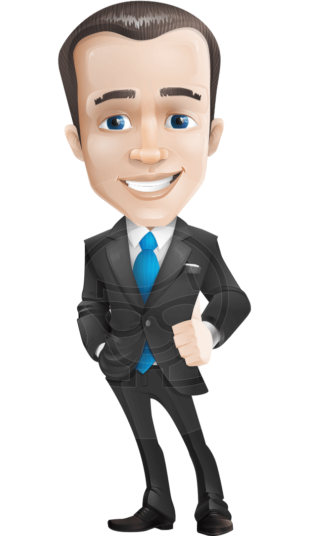 Businessman vector png. Male business cartoon character
