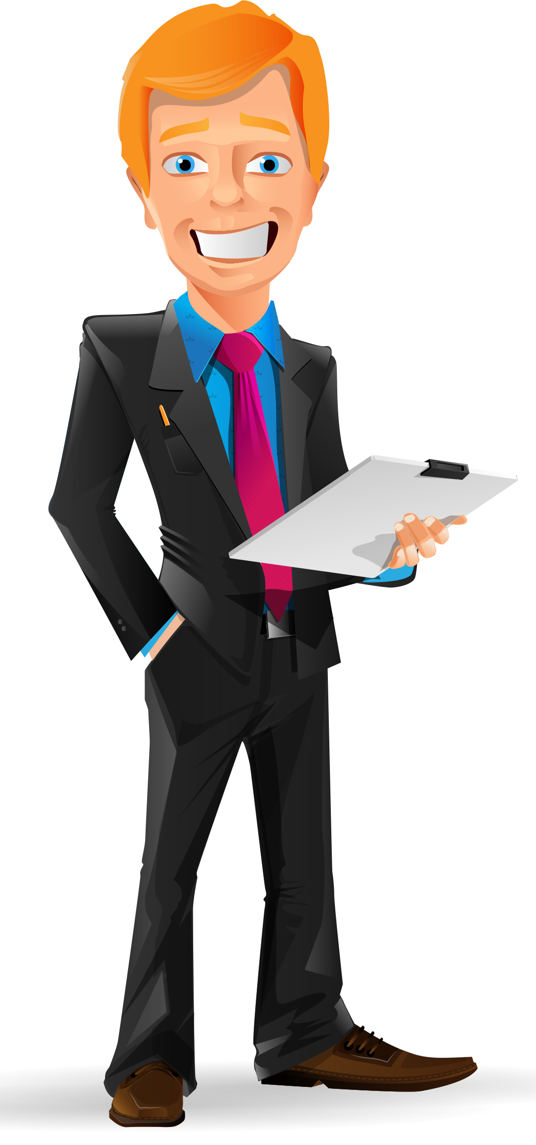 Worker vector business man. Smiling businessman character http
