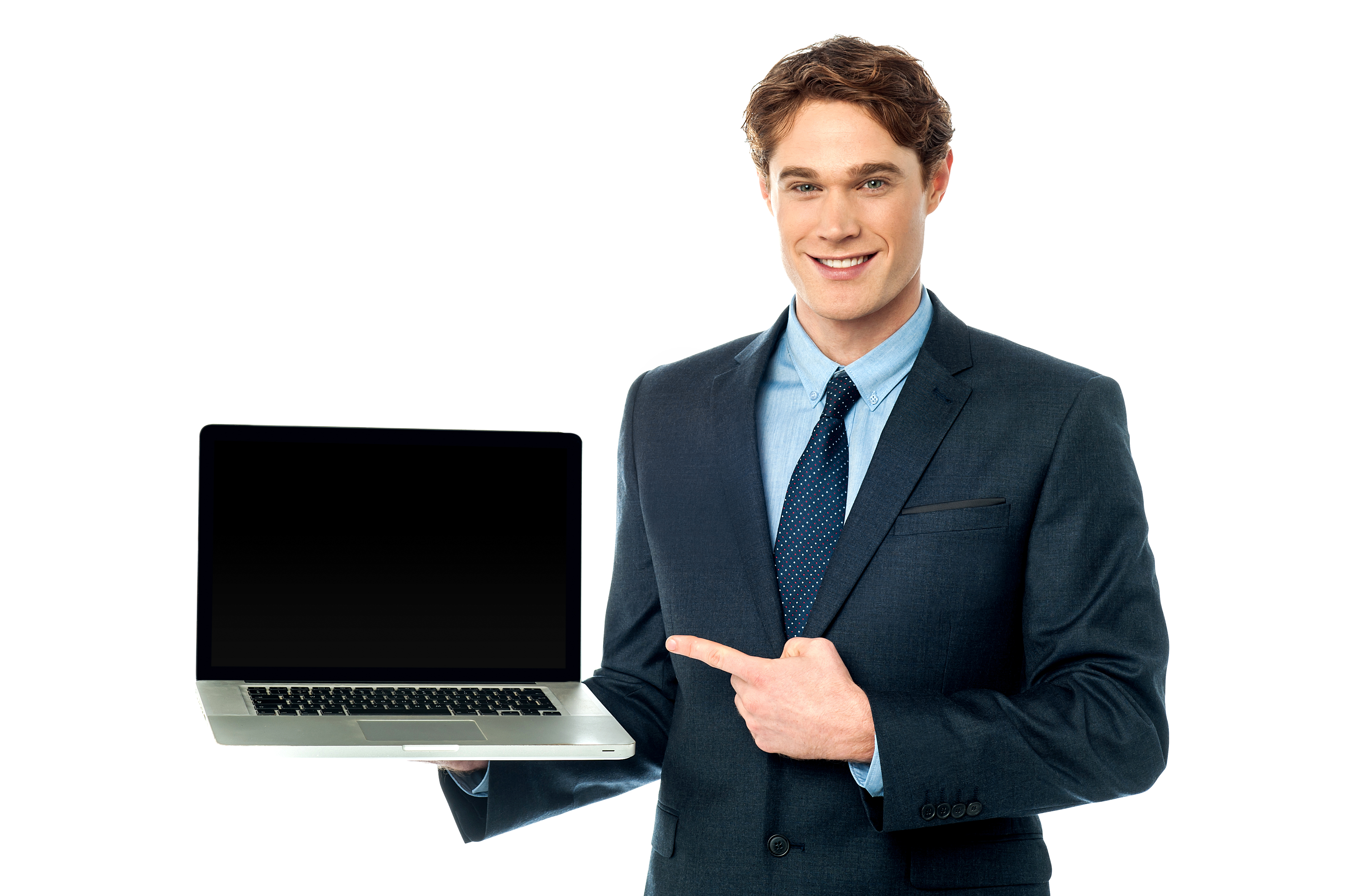 Businessman with laptop png. Male royalty free images