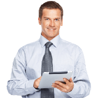 Businessman with laptop png. Download free photo images