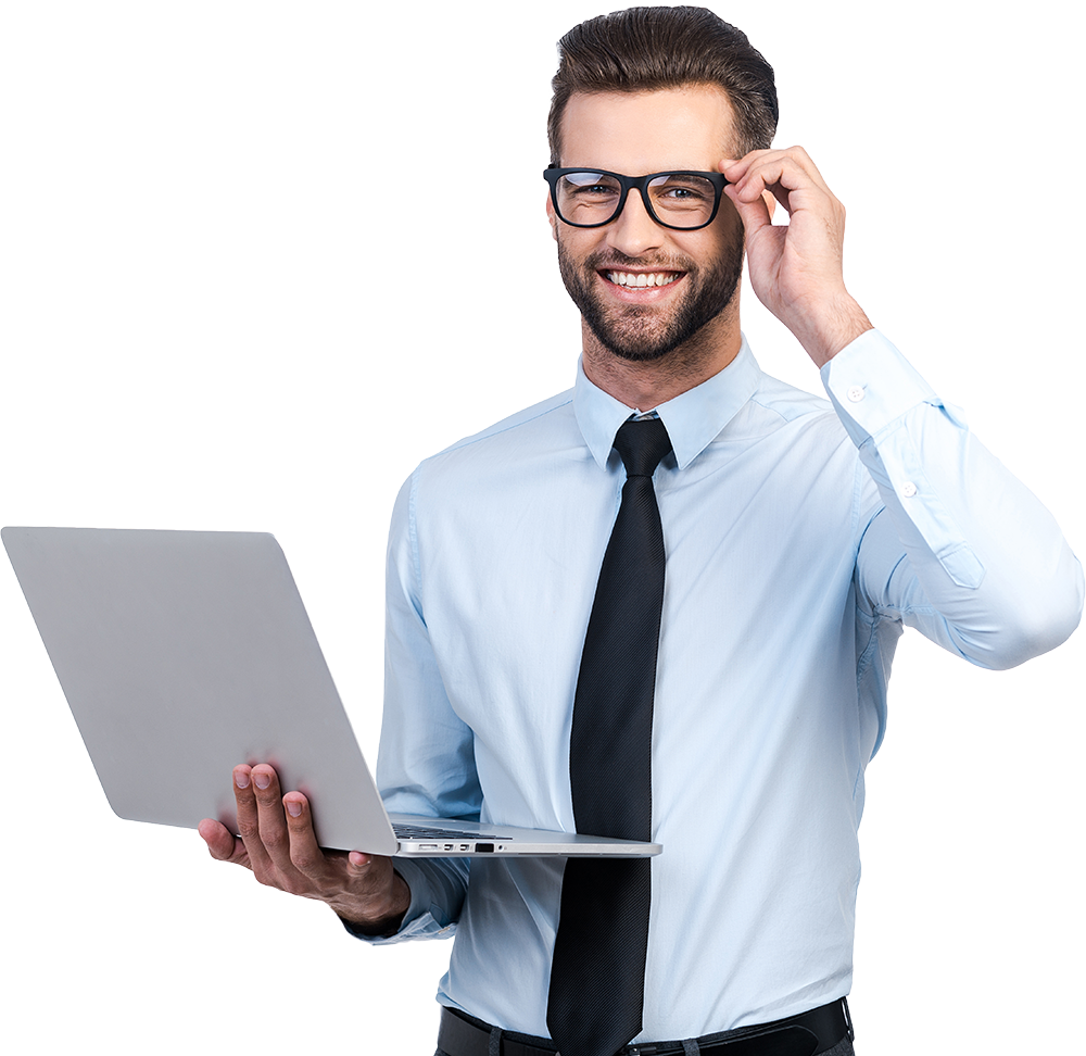 Businessman with laptop png. About us goldenore we