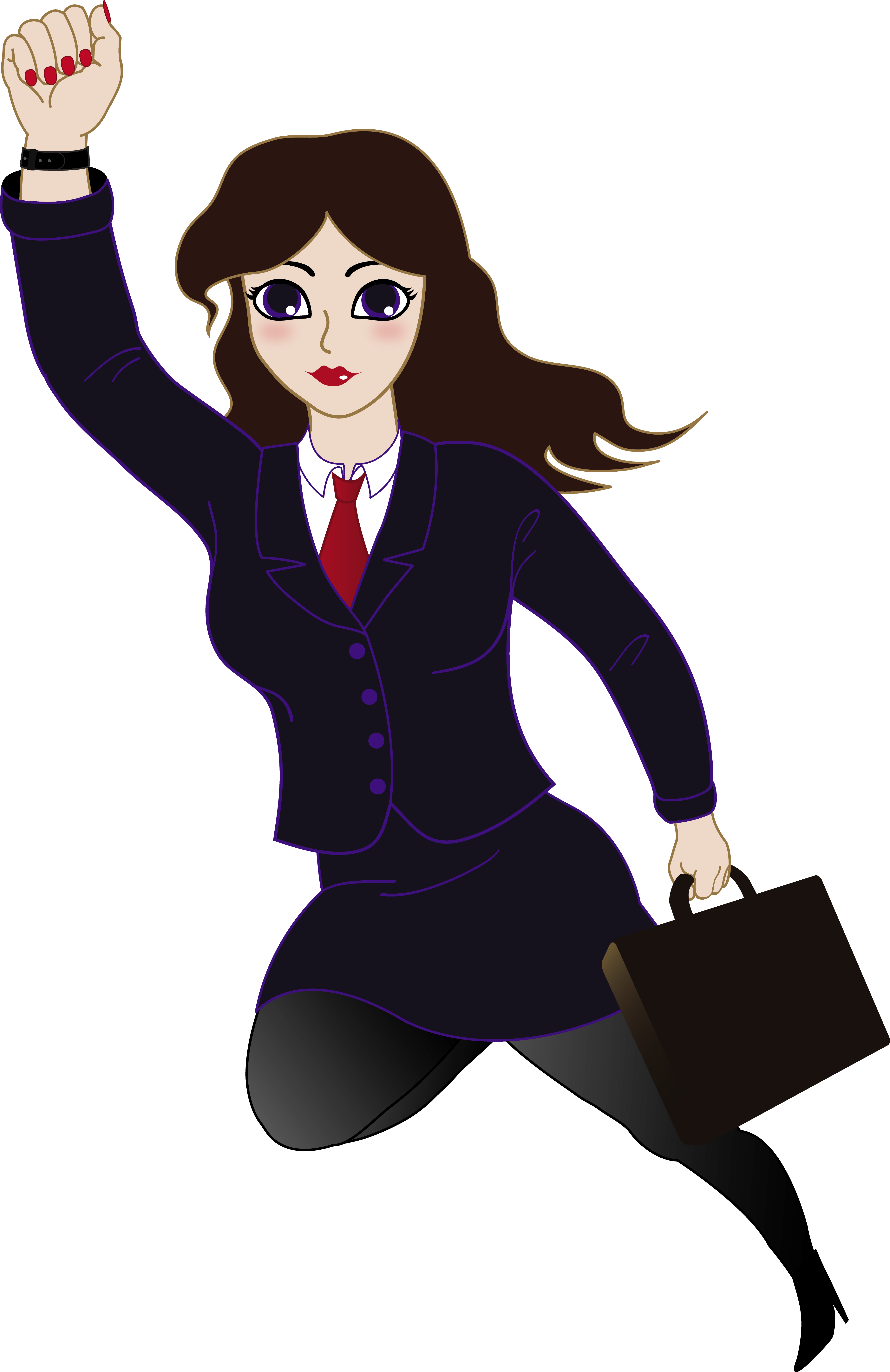 Super businesswoman . Woman clipart clipart library