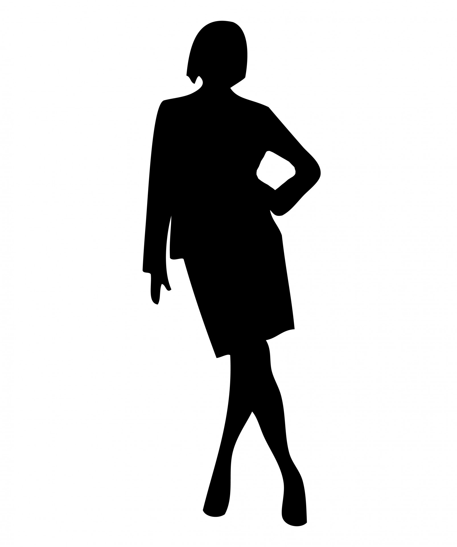 Businesswoman clipart male female. Woman business silhouette at