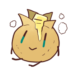 Butter character png. Popular potato in japan
