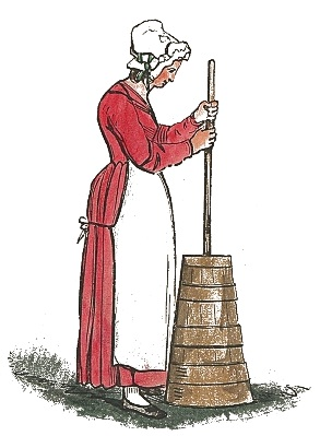 Butter clipart butter churn. Churning world history old