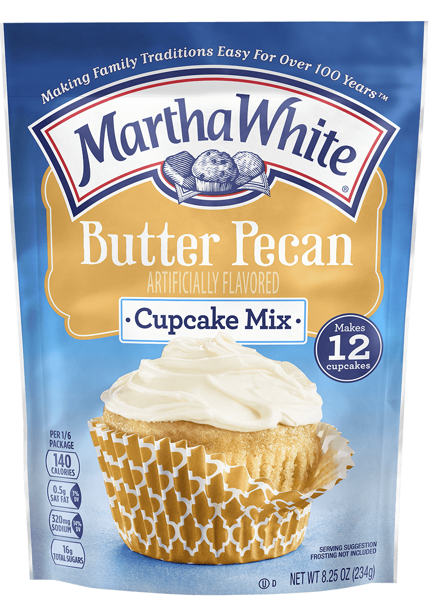 Butter pecan png. Cupcakes martha white cupcake