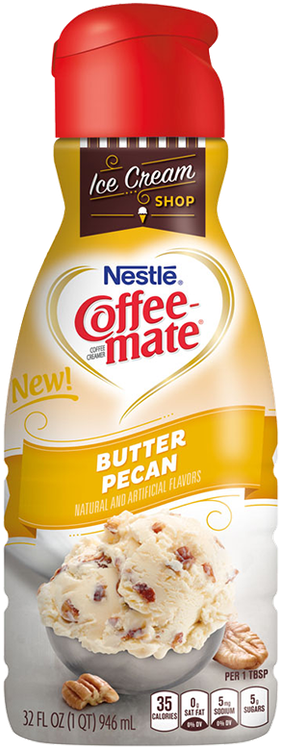 Butter pecan png. Coffee mate liquid reviews
