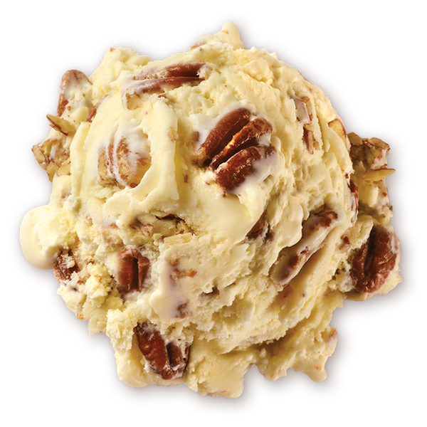 Butter pecan png. Homemade brand ice cream