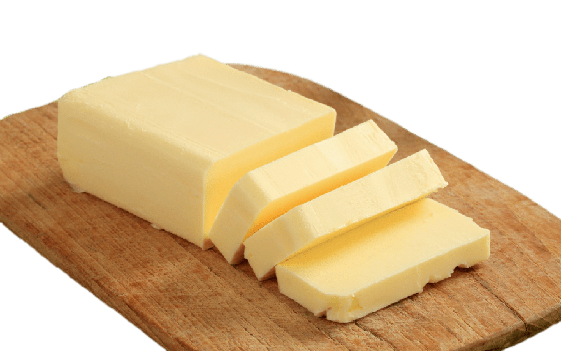 Butter png. On wooden plank transparent
