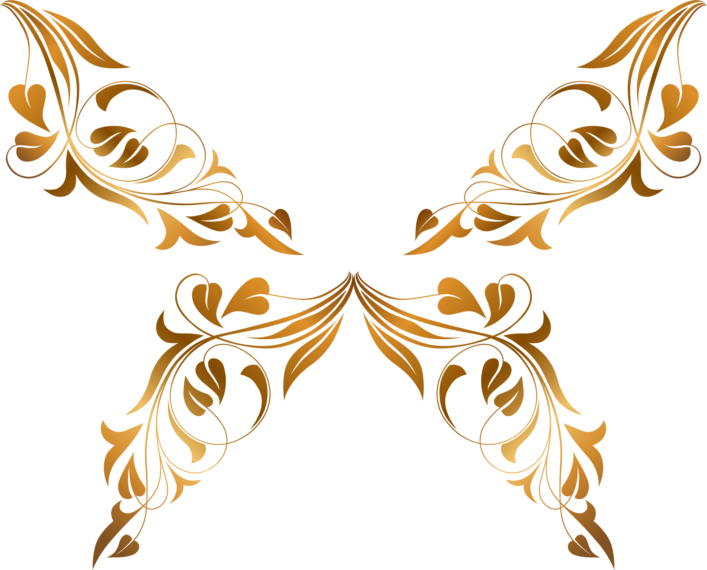 Clipart flowers and butterflies png. Floral flourish butterfly big