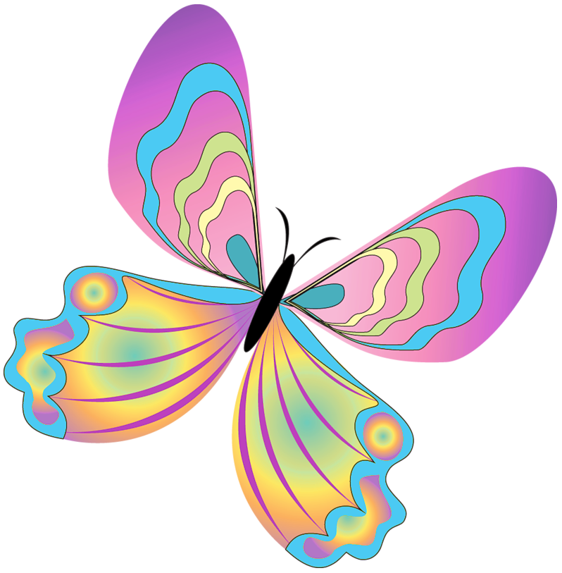 Butterflies clipart png. Painted butterfly gallery yopriceville