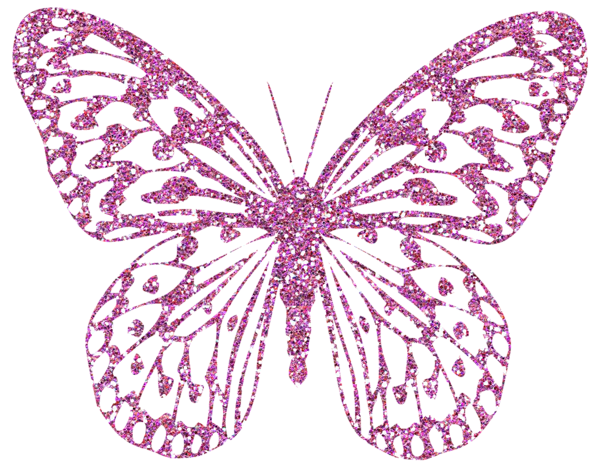 Butterflies pink png. Decorative butterfly clipart image