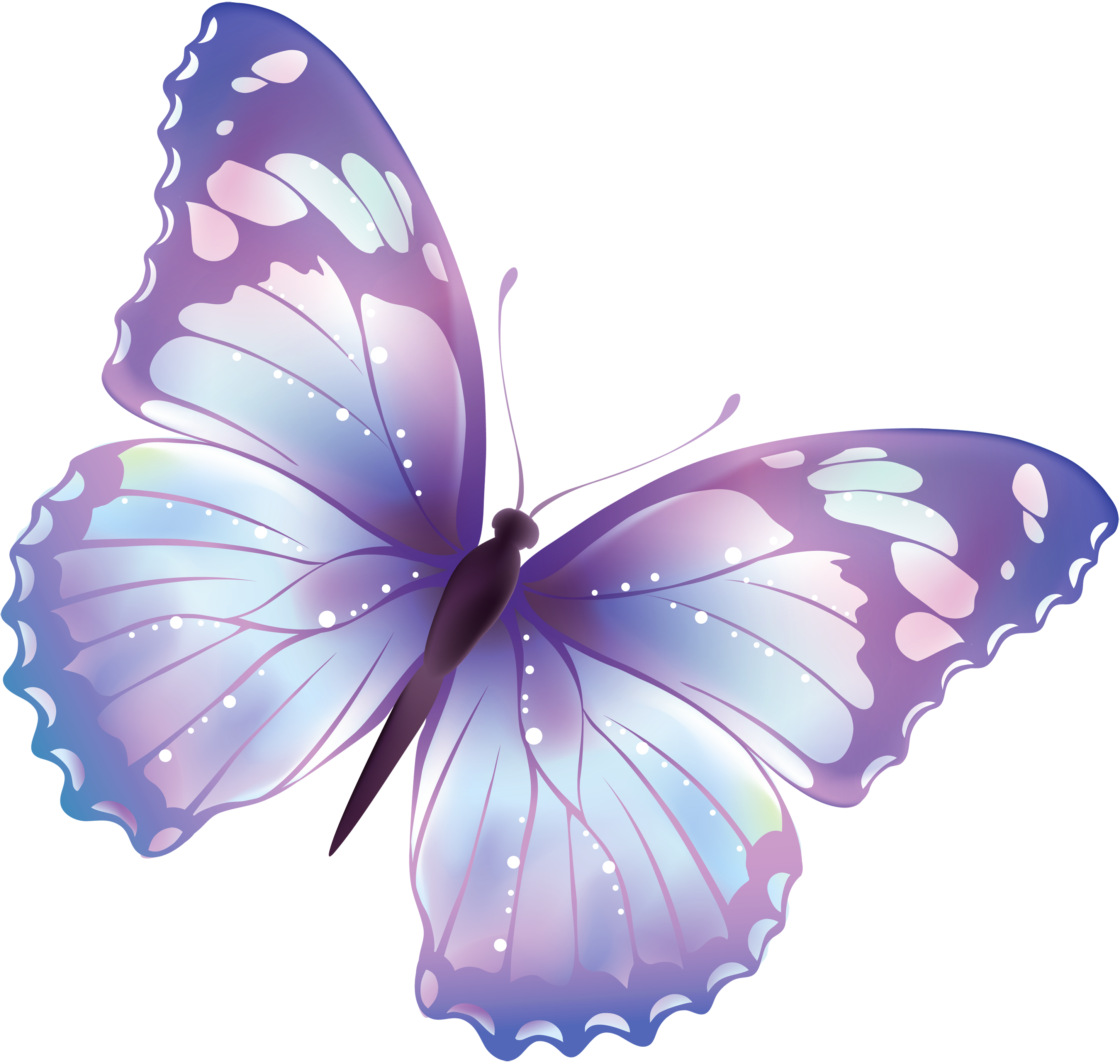 Drawing spring purple butterfly. Flying png image pics
