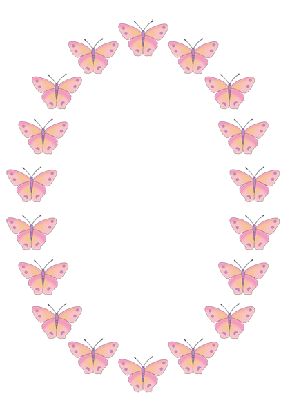 Butterfly border png. Clipart clip art free