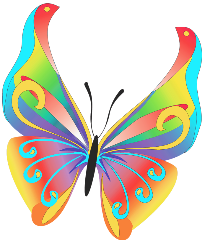 august clipart butterfly