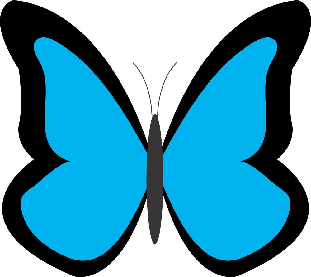 butterfly clip art simple