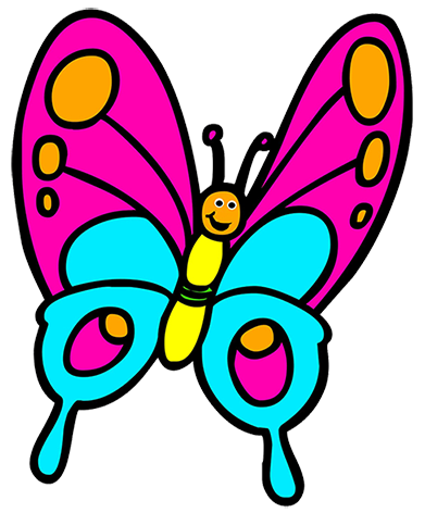 Smiley clipart butterfly svg free stock