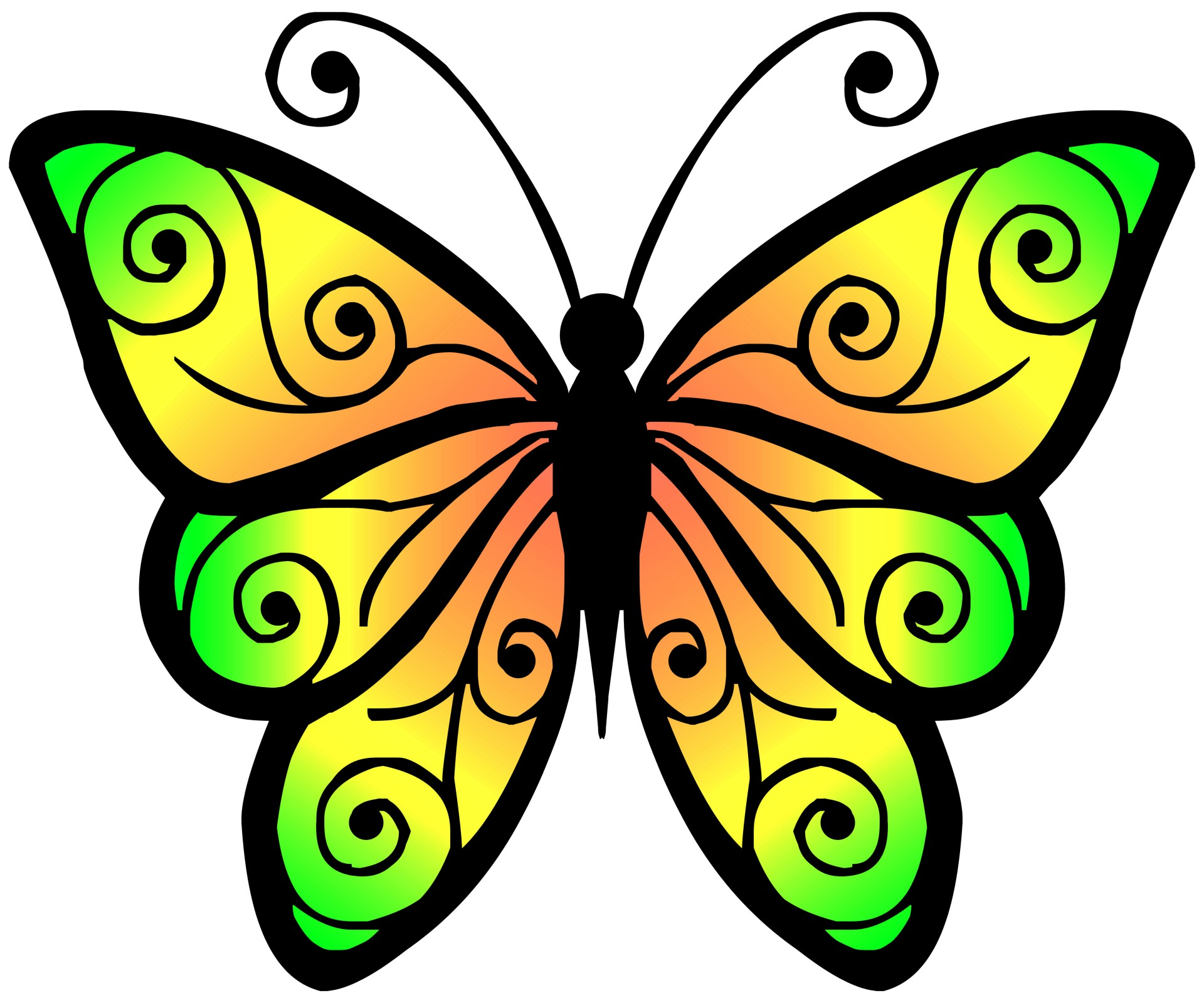 Butterfly clip art. Clipart free stock photo