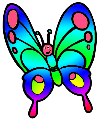 Butterfly clip art. Clipart cute for kids