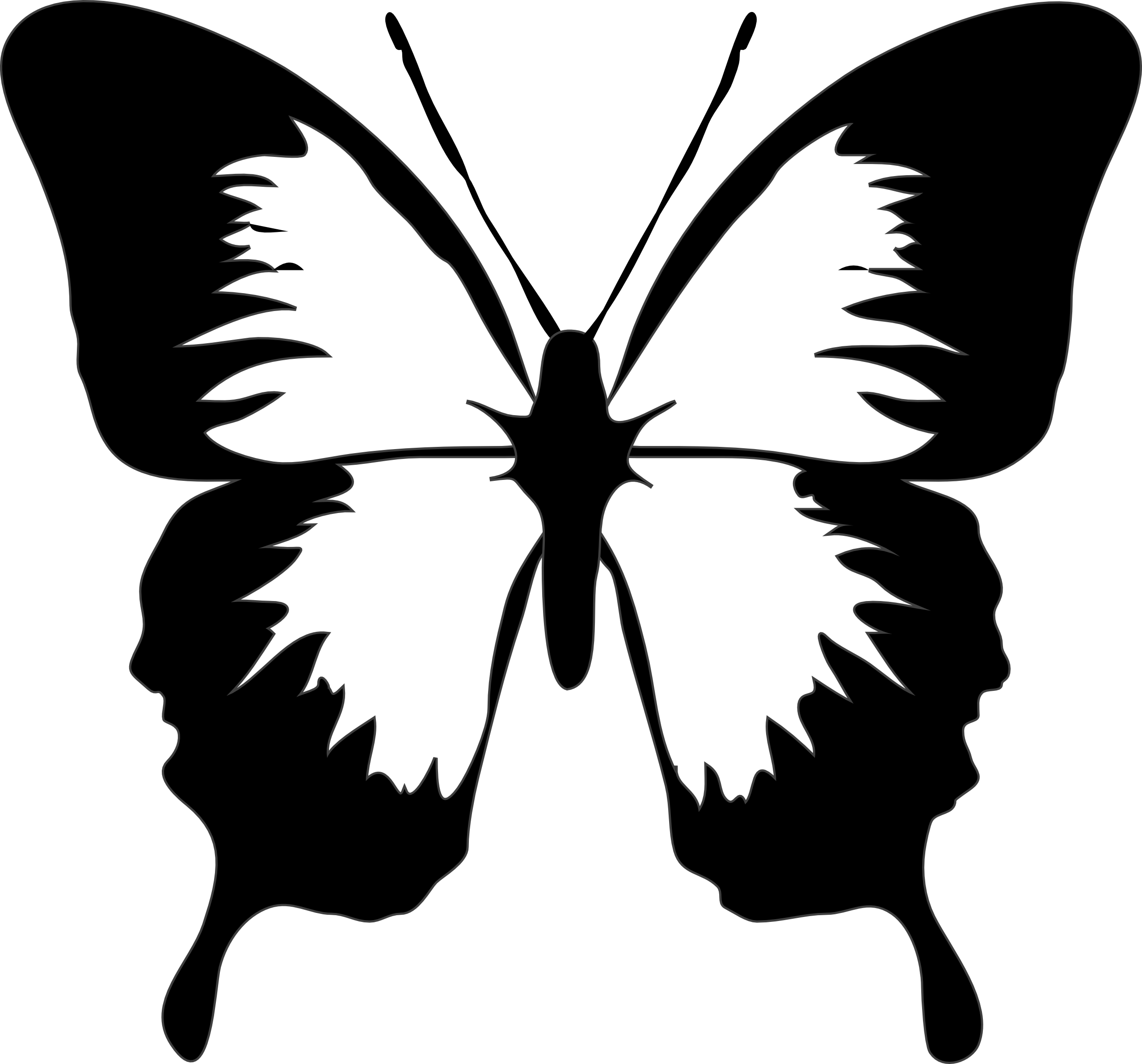 Clipart panda free . Butterfly clip art black and white jpg stock