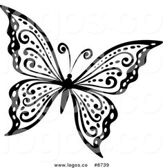 Butterfly clip art black and white. Clipart panda free images