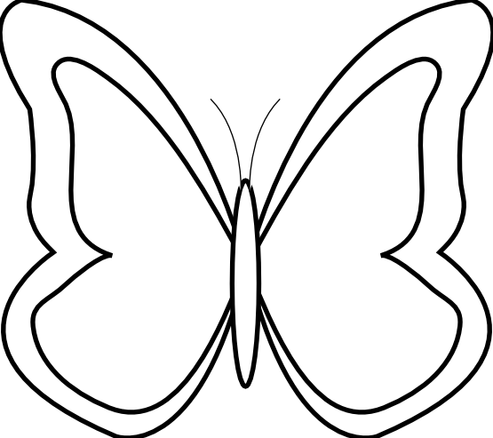 Butterfly clip art black and white. Clipart library free