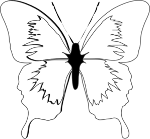 Clipart panda free images. Butterfly clip art black and white jpg library download