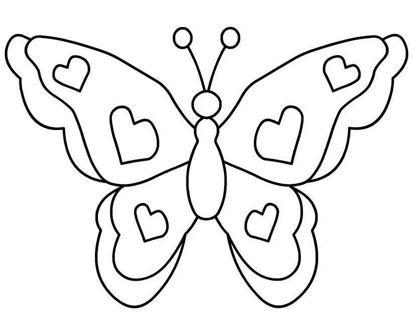 Butterfly clip art black and white. Clipart