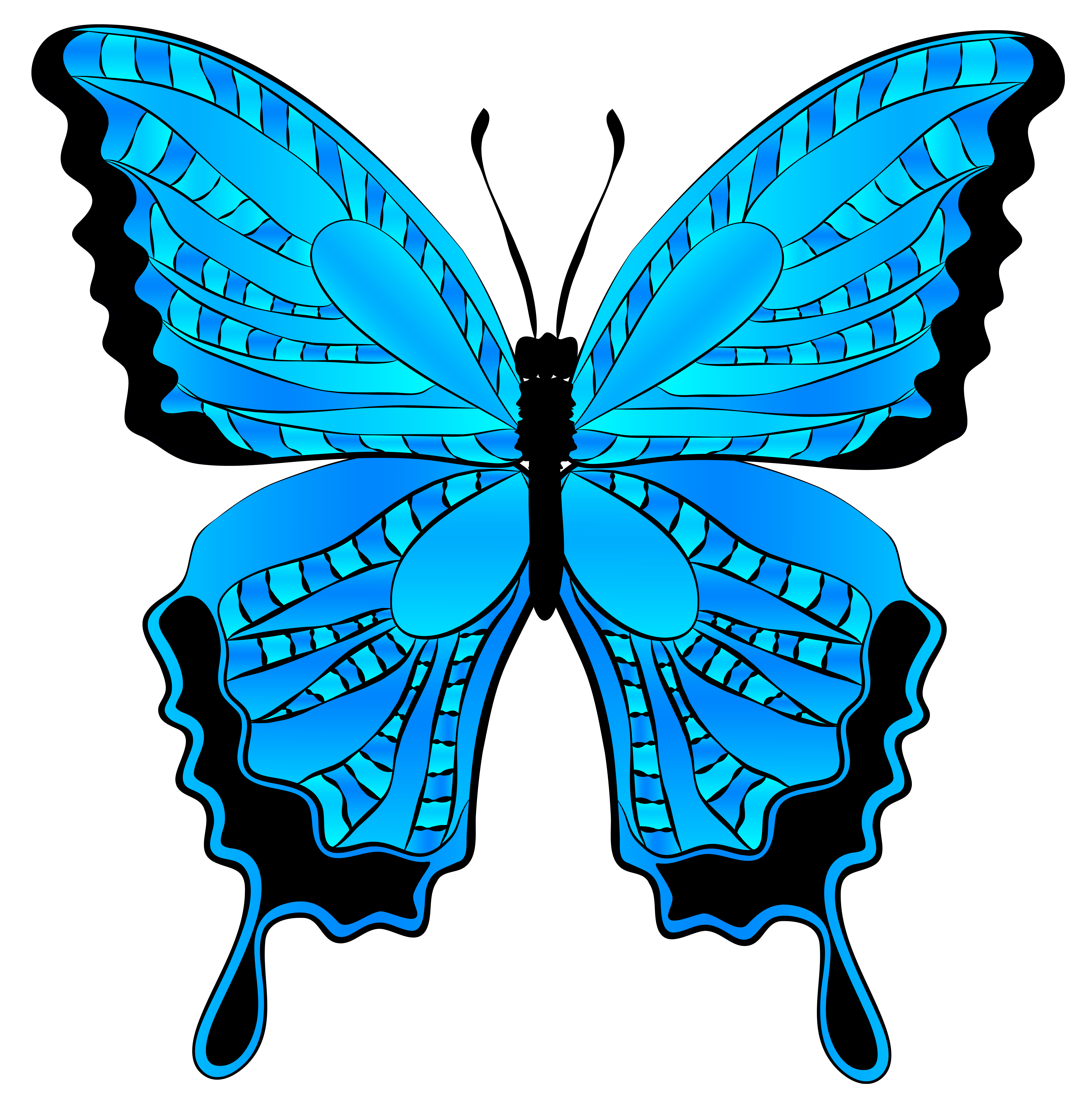 Butterfly clip art blue butterfly. Clipart image gallery yopriceville