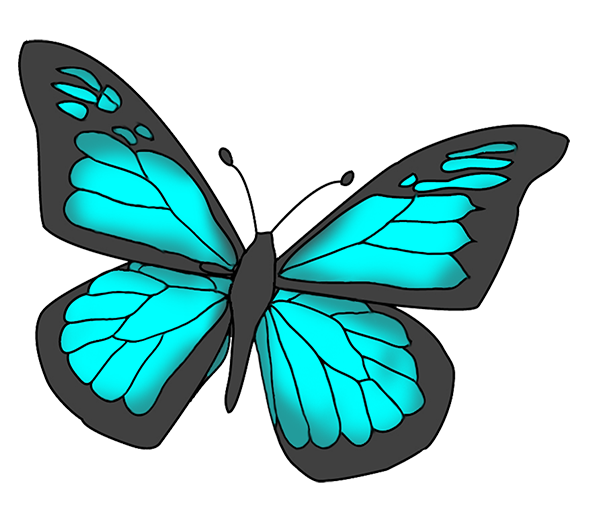 Butterfly clip art blue butterfly. Free images download on