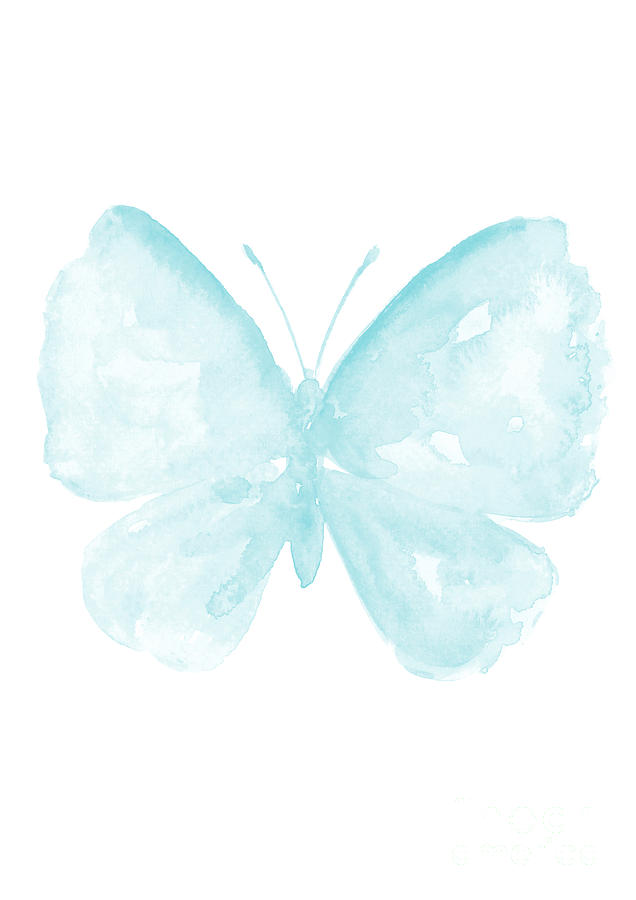 Butterfly clip art blue butterfly. Baby paster kids room