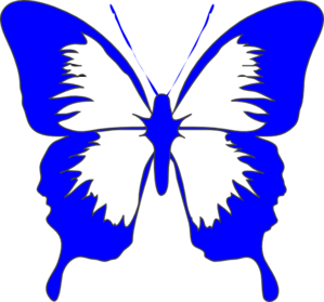 Butterfly clip art blue butterfly. At clker com vector