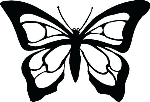 Butterfly clip art butterfly outline. Monarch black and white