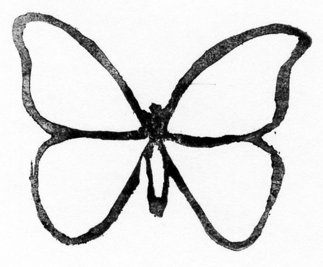 Butterfly clip art butterfly outline. Template clipart panda free
