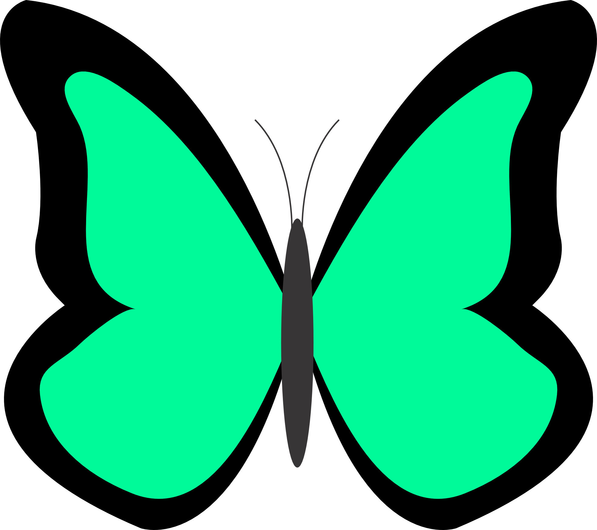 Drawing spring butterfly. Butterflies clipart background clipartfest