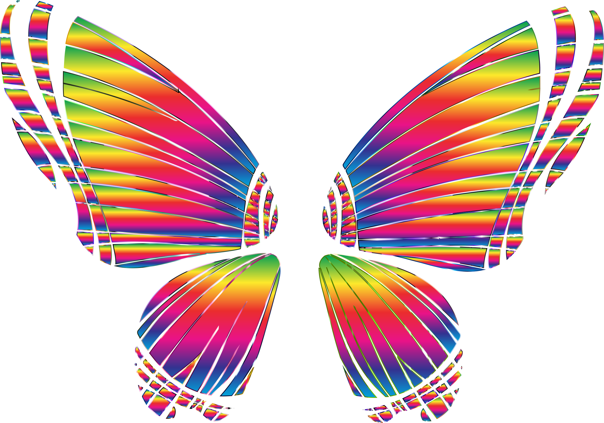 Butterfly clip art clear background. Rgb silhouette no icons