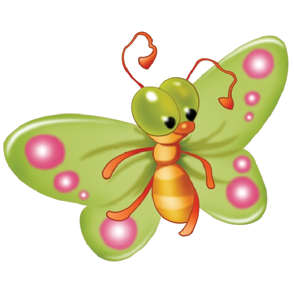 Butterfly clip art clear background. Baby cartoon pictures all