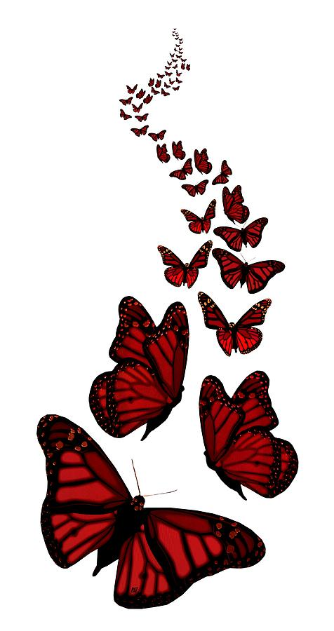 Butterfly clip art clear background. Trail of the red