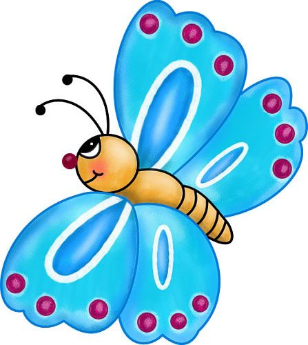 Butterfly clip art colourful. Free exciting and bright