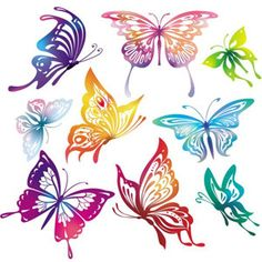 Butterfly clip art colourful. Free vintage butterflies continue