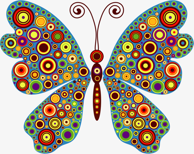 Colorful cartoon png image. Butterfly clip art colourful library