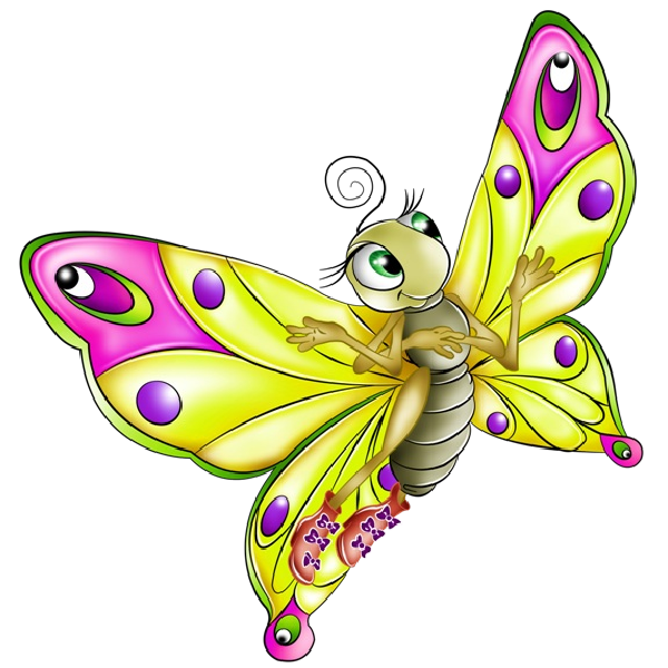 Butterfly clip art colourful. Very cartoon images all