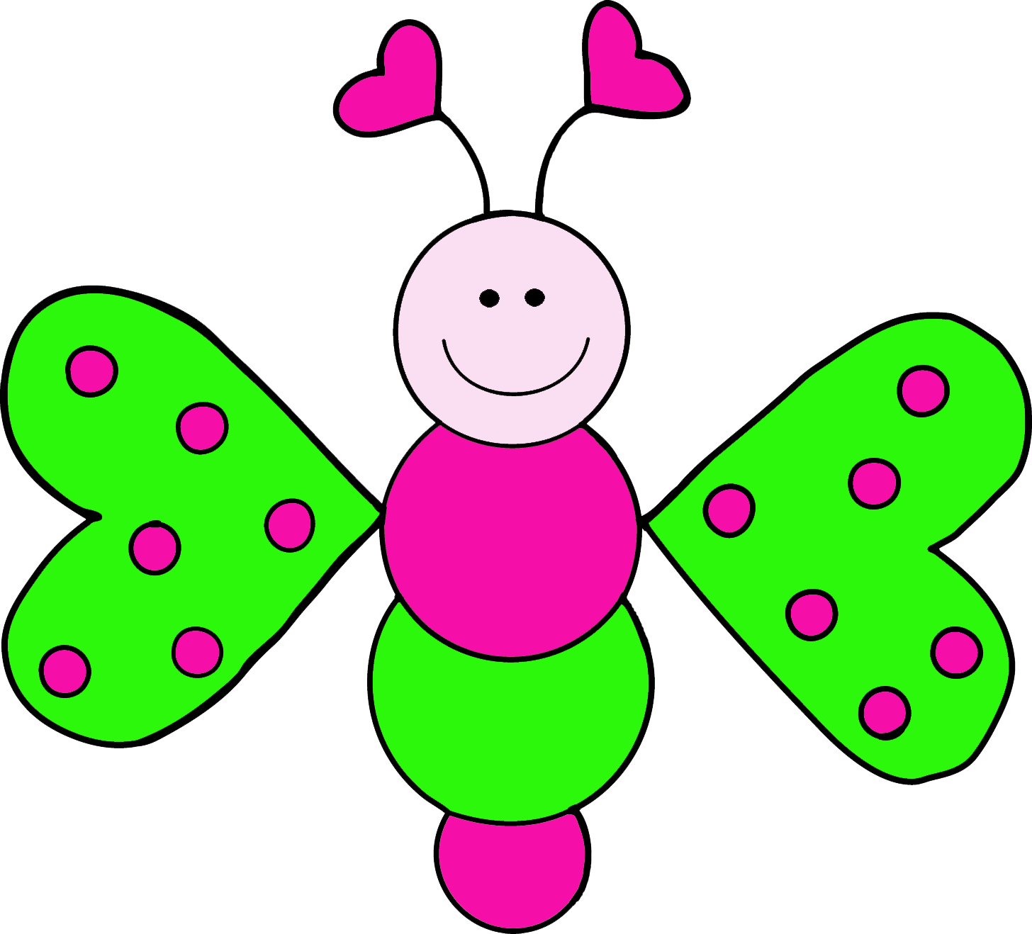 Png clip art download. Cute butterfly clipart panda