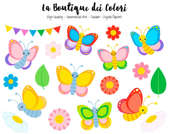 Butterfly clip art cute. Colorful clipart graphics png