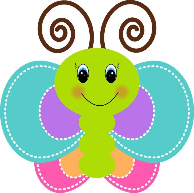 Butterfly clip art cute. Pretty kind of letters