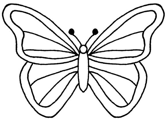 Butterfly clip art easy. Best images on
