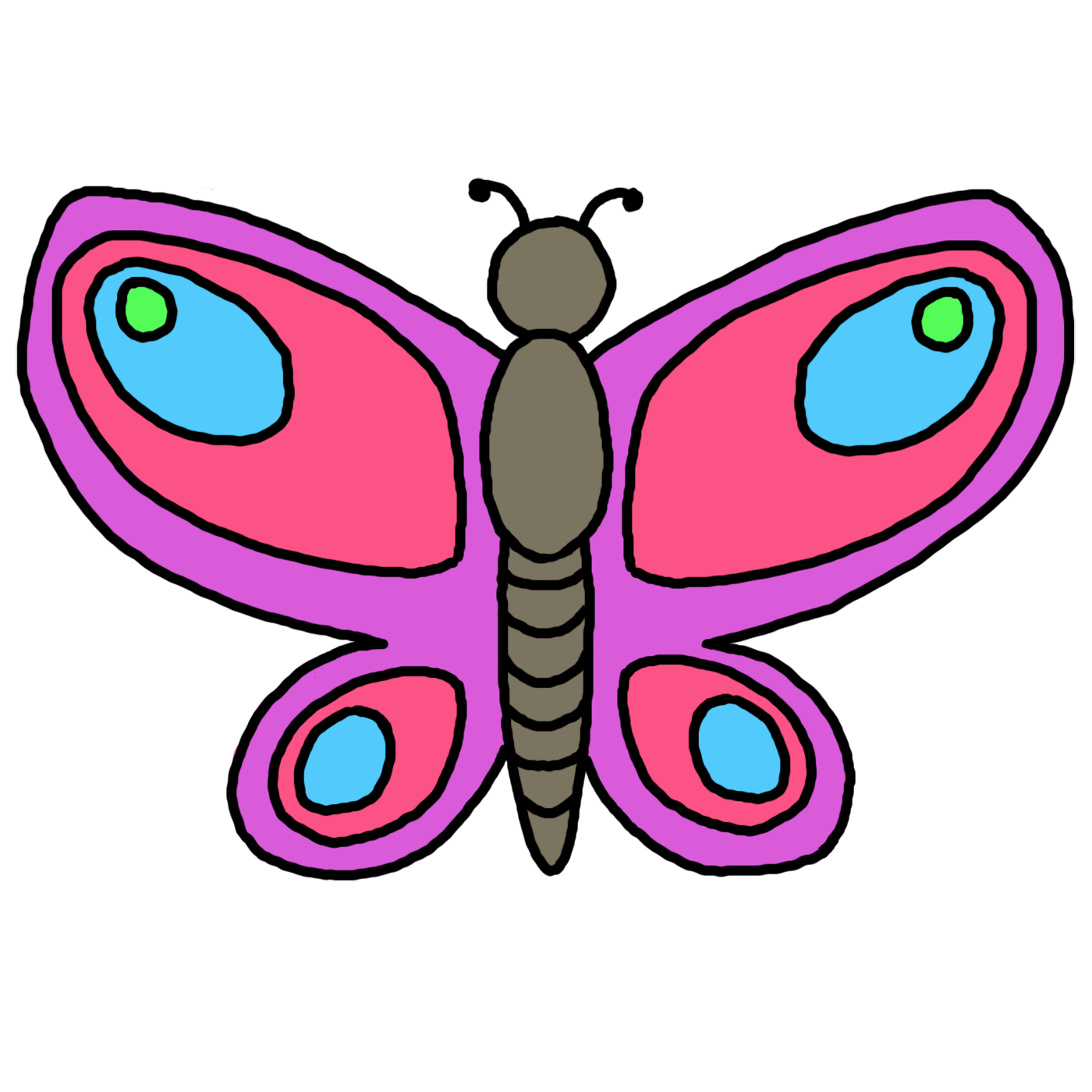 Butterfly clip art easy. M essay the museum